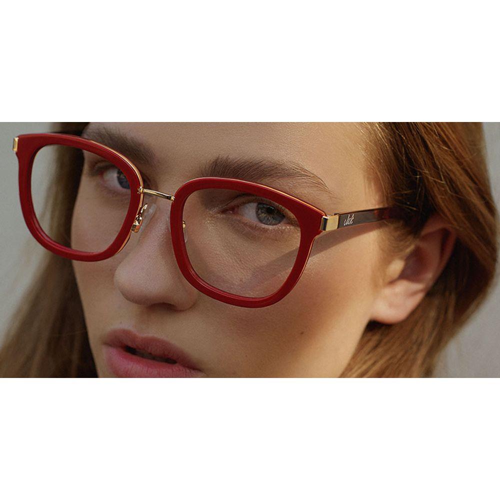 lentes gafas opticos jack rojo metal