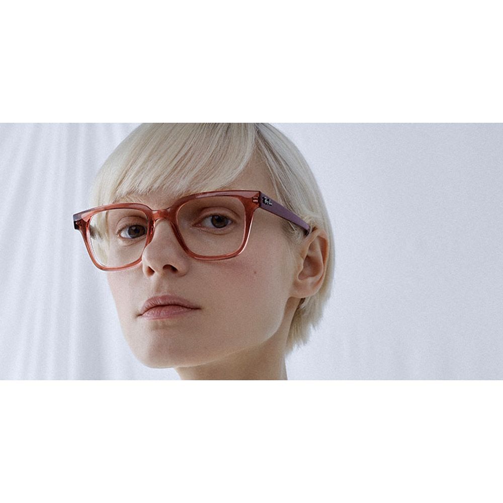 lentes opticos ray ban rojo