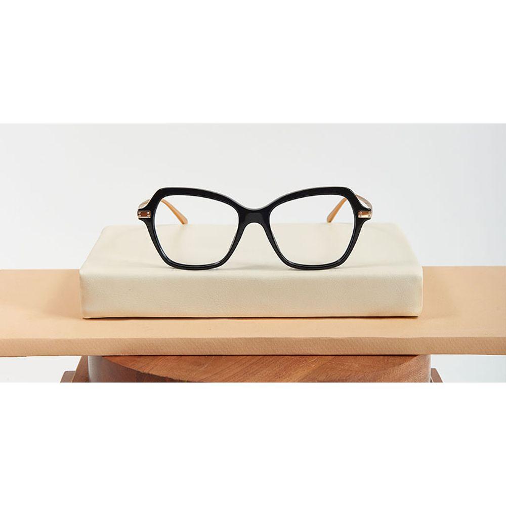 lentes opticos dolce negros dorado