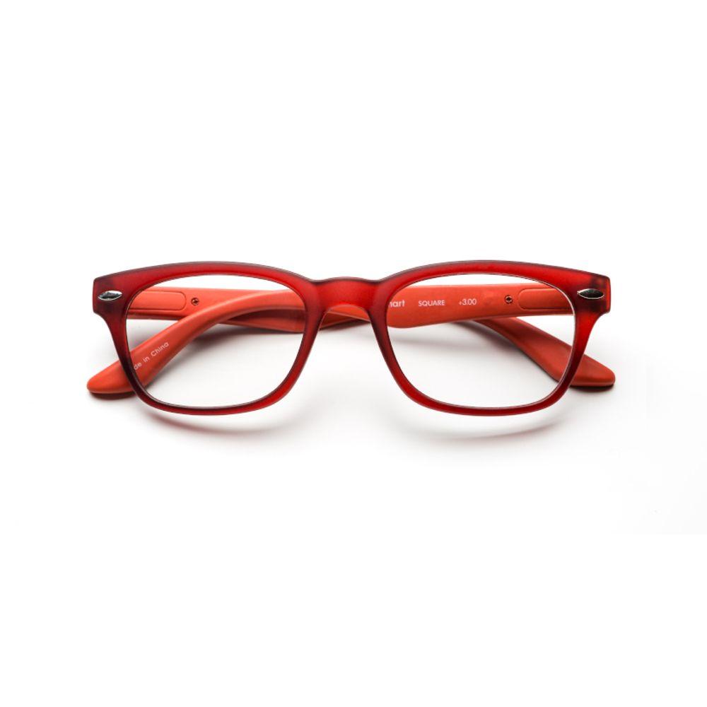 Anteojos de Lectura B+D SMART SQUARE MATT RED